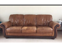 Huge leather couch