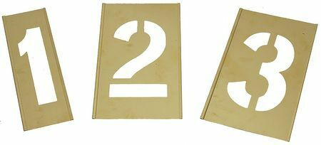 Zoro Select 1F042 Interlocking Stencil,Numbers,Brass