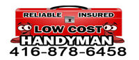 √LOW COST AND EFFECTIVE HANDYMAN•