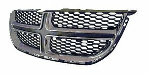 NEW 2011-15 DODGE CARAVAN CHROME AND BLACK FRONT GRILLE