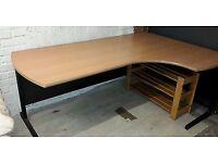 Sale of L-Shaped Desks, Tables, Chairs, 3 Drawer Metal Underdesk pedestals