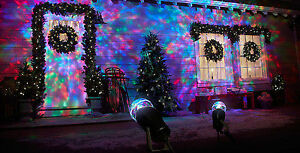SWIRLING MOVING COLOURED PROJECTION CHRISTMAS LIGHTS (NEW)