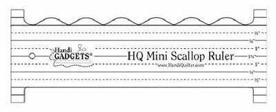 Handi Quilter Mini Scallop Ruler for Mid-Arm & Longarm Quilting Machine