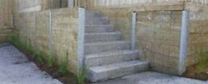 Galvanised H Retaining wall post 1.8mtr