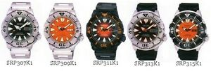Orange or Black Seiko automatic Diver Monster watch