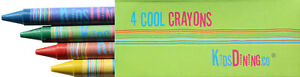 Kids Crayons with 4 Colours (bulk, wax crayons, non-toxic) - 20 Boxes