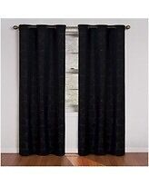 4 BLACK PANEL CURTAINS $40