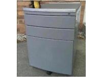 Grey metal mobile pedestal cheap office furniture Stortford Dunmow essex london
