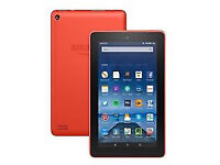 Kindle Fire Tablet, 7 inch Display, Wi-Fi, 8 GB Tangerine