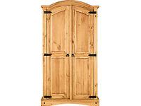 Brand new light pine 2 door wardrobe