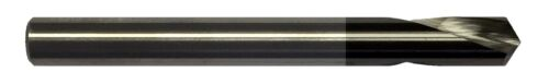 """1/4"""" 2 FLUTE 120 DEGREE CARBIDE SPOT DRILL - TiALN COATED"""