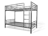 Brand New Boxed Quality Metal Bunk beds in White Or Silver FREE Delivery