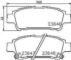 Saab 9-3 YS3D 2.0 SE Turbo Genuine Braymann Rear Brake Pads Set