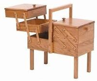 sewing chest solid wood