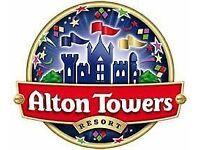 Alton Towers Tickets x 2 - Wednesday 19th October (Half Term Week)