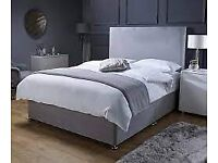 !!Summer Sale Now On!! Luxury Suede Double Divan Bed Set !! All Sizes