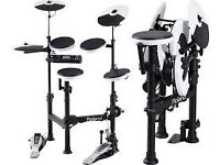 Roland V-Drums TD-4KP with Roland PM-03 Personal Drum Monitor and Roland RH-300V V-Drum Headphones