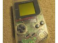 original gameboy transparent limited edition