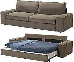 IKEA KIVIK 3 seater sofa bed + chair + footstool