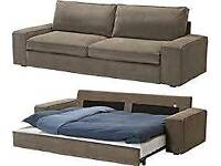 IKEA KIVIK 3 seater sofa bed + chair + footstool