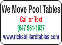 POOL TABLE SERVICE & MOVING (647) 961-1637