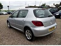 2005 PEUGEOT 307 QUICK SILVER 5 DOOR HATCHBACK, AIRCON, C/D PLAYER. LONG MOT.