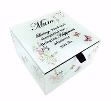 Mum Trinket Box Glass Mirrored With Message