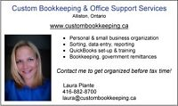 Bookkeeper in Alliston available for local or remote work