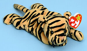 Stripes the tiger Ty Beanie Baby stuffed animal - 4th generation