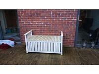 Ikea White Garden Bench