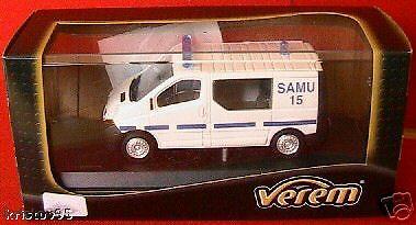 RENAULT TRAFIC SAMU VEREM 290 1/50 SOLIDO 1ER SECOURS