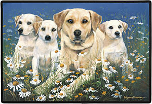 Labrador Retriever doormats:Chocolate Lab, Yellow Lab, Black Lab