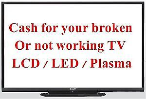 Sell me your broken, not working, in need of repair LCD LED TV