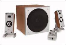 Logitech Z3 Wood Grained Speakers & Subwoofer Bardwell Park Rockdale Area Preview
