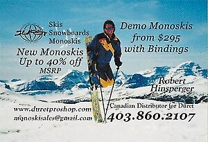 NEW & Used monoskis for sale skis ski