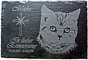 Grabstein Katze