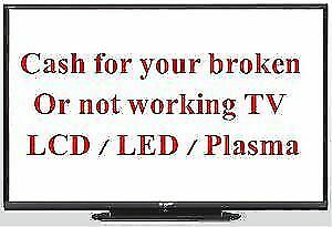 WE BUY -  SELL - REPAIR  PLAZMA LED LCD TV'S