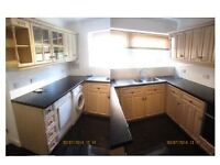 2 bed, spacious first floor with parking and garage