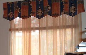 Habillage fenêtre valence et voile - sheer and valance window