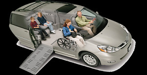 Wheelchair vans for rent - Handicap mobility ramp vans