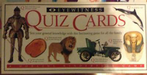 Family game Eyewitness Quiz cards for sale