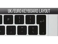 "Macbook Pro Retina 15"" and 13"" REPLACEMENT KEYS (UK KEYBOARD LAYOUT) 2012 2013 +"