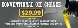 GET YOUR OIL CHANGE TODAY