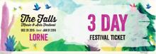 Lorne Falls Music & Art Festival 3 day pass South Brighton Holdfast Bay Preview