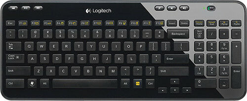 Logitech - K360 Wireless Keyboard - Black