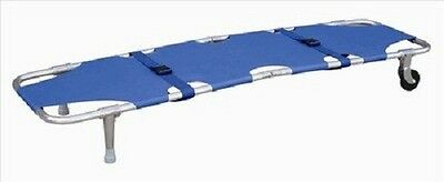 Medical Foldaway Wheel Stretcher Blue Belt Emergency Equipment Ambulance Fda
