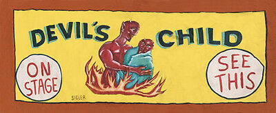 Vintage Freakshow  Sideshow  Circus Fair Carnival    The Devil's Child   Banner