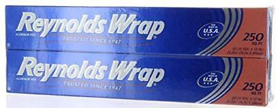 2 Pack Reynolds Wrap Aluminum Foil 250 Sq.ft Each Total 500 Sq.ft