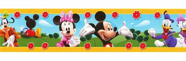 10 metre roll self adhesive disney mini mickey mouse clubhouse wallpaper border ebay details about 10 metre roll self adhesive disney mini mickey mouse clubhouse wallpaper border