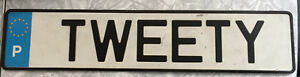 Licence plate.